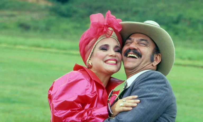 Porcina (Regina Duarte) e Sinhozinho Malta (Lima Duarte) em Roque Santeiro (1985)