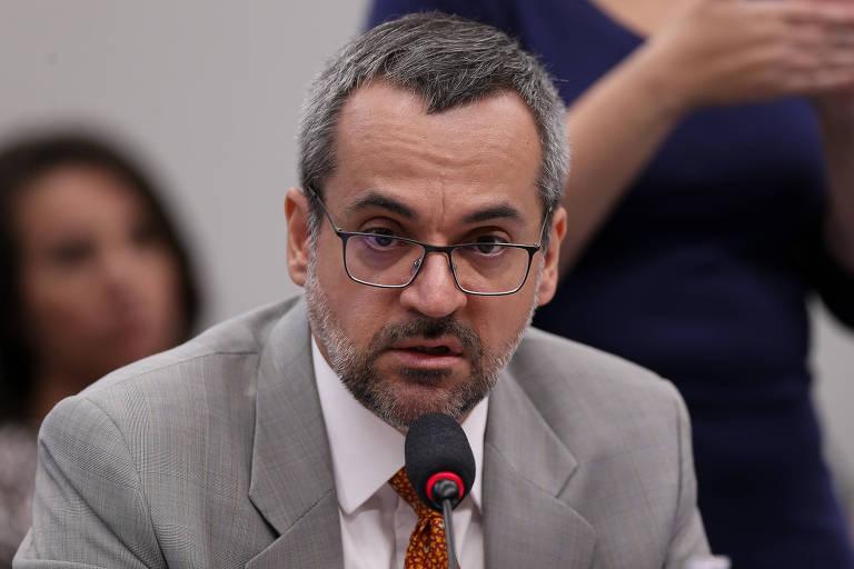 O ministro da Educação Abraham Weintraub durante audiência na comissão de Educação da Câmara