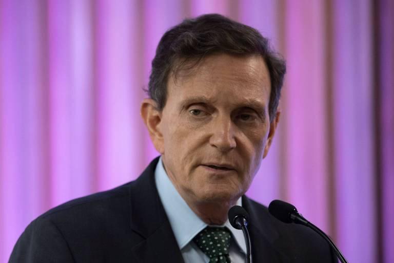 O prefeito do Rio, Marcelo Crivella, em cerimônia na Federação de Indústrias do estado