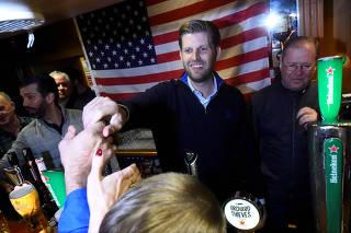 U.S. President Donald Trump's sons Eric and Donald Trump Jr. visit a local pub in Doonbeg village