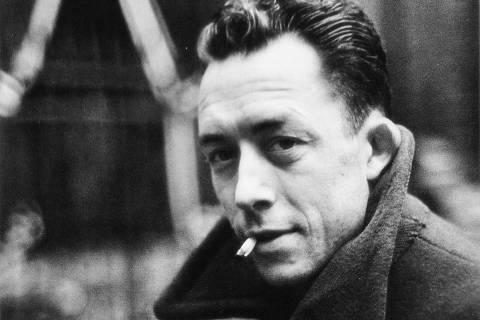 O escritor argelino Albert Camus. [FSP-Ilustrada-20.07.96]*** NÃO UTILIZAR SEM ANTES CHECAR CRÉDITO E LEGENDA*** ***DIREITOS RESERVADOS. NÃO PUBLICAR SEM AUTORIZAÇÃO DO DETENTOR DOS DIREITOS AUTORAIS E DE IMAGEM***