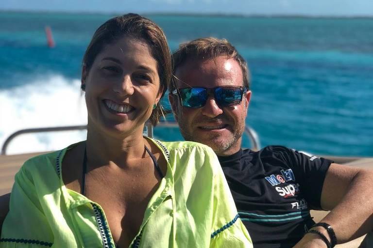 Rubens Barricchello e a ex-mulher Silvana Giaffone