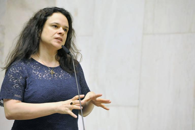A deputada Janaina Paschoal (PSL) no plenário da Assembleia Legislativa de São Paulo