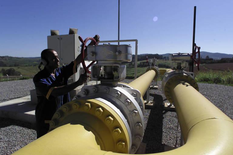 Trecho de gasoduto em Itatiba (SP) -
