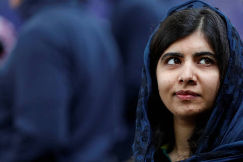 Cricket -  ICC Cricket World Cup - Launch Party On The Mall - London, Britain - May 29, 2019   Pakistani Noble Peace Price winner Malala Yousafzai talks to the media    Action Images via Reuters/Matthew Childs ORG XMIT: AI
