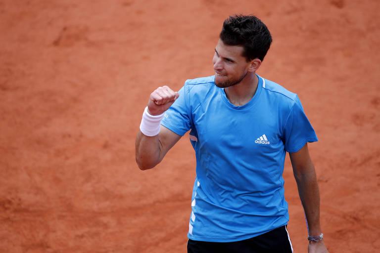Novak Djokovic x Dominic Thiem na semifinal de Roland Garros