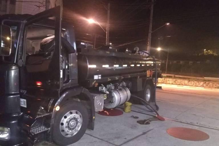 Furto de combustível em Santo André