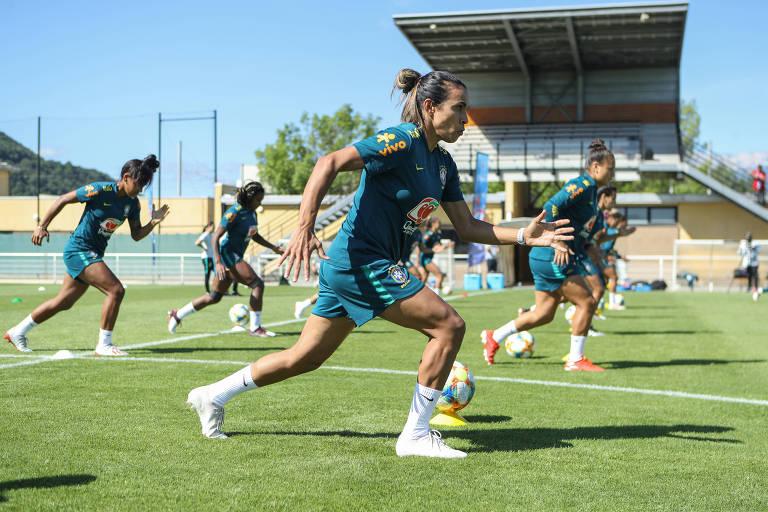 Treino da Seleção Feminina no Stade Paul Bourget. Foto: Assessoria / CBF