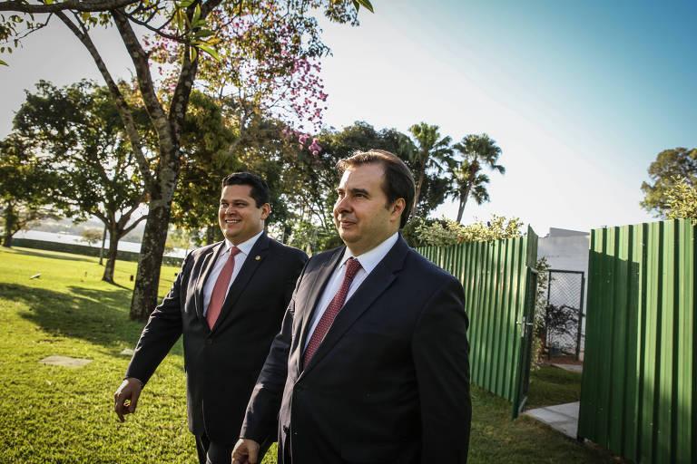 Entrevista com Rodrigo Maia e Davi Alcolumbre, em junho