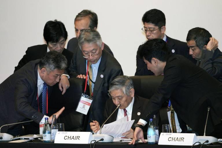Representantes financeiros das 20 maiores economias do mundo se reúnem em Fukuoka, no Japão