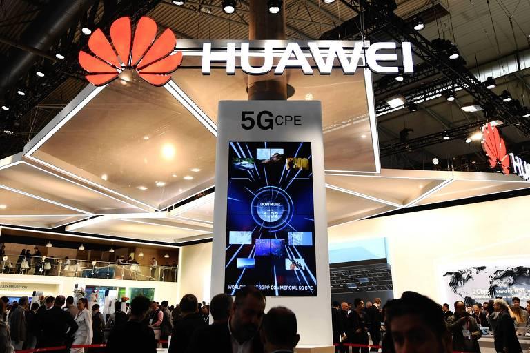 Display gigante da Huawei em congresso em Barcelona