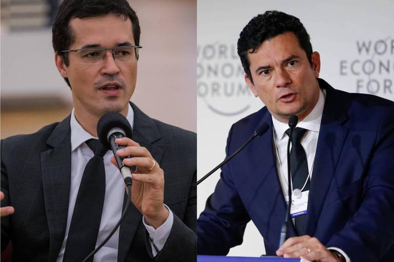 O procurador da Lava Jato Deltan Dallagnol e o ministro da Justiça Sergio Moro