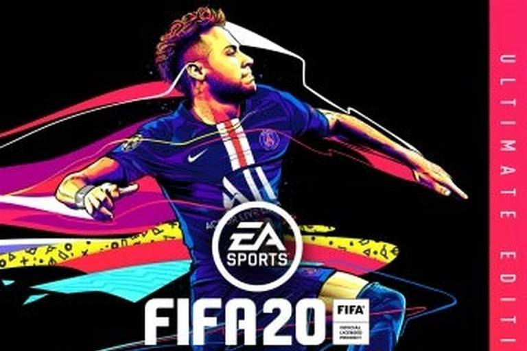 Neymar em versão da capa do Fifa 20 que estava disponível na Playstation Store