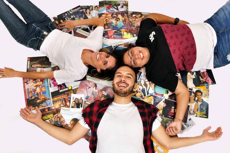 Erica Fagundes, Léo Torres e Raffa Lima são fãs que vão acompanhar todos os shows da turnê de Sandy e Junior