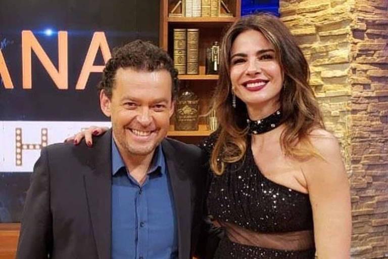 Luciana Gimenez entrevista em seu talk show desta terça-feira (11) o jornalista Fernando Rocha