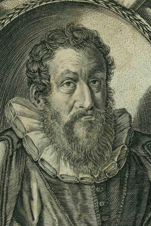 Retrato de Girolamo Cardano, em livro francês do século 17