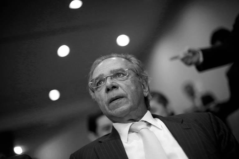 O ministro da Economia, Paulo Guedes, durante evento em Brasília, em maio deste ano