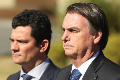 Nota 10 pro Moro, subiu no meu conceito, diz Bolsonaro sobre explicações no Senado