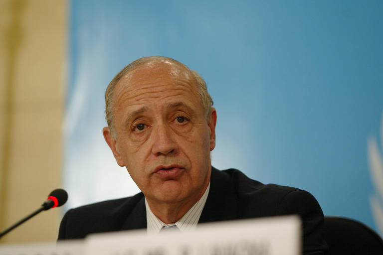 Roberto Lavagna, então ministro da economia da Argentina, durante evento em São Paulo