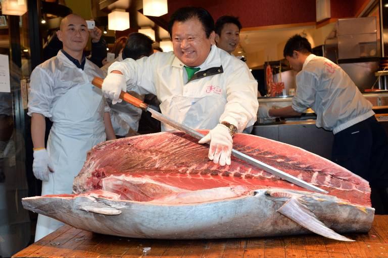 Restaurantes no Japão usam carne do bluefin em preparo de receitas