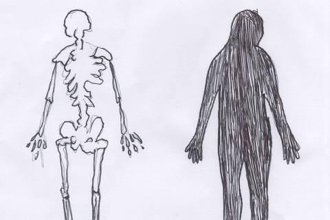 Ilustração do caderno da 63ª Turma de Trainees da Folha sobre transtorno psiquiatrico em adolescentes Credito:  Estela May  Galeria 3