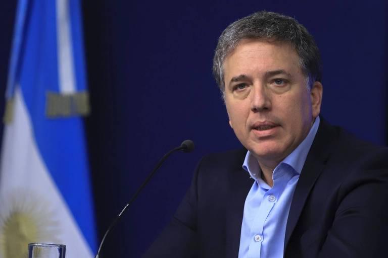 O ministro da Economia da Argentina, Nicolás Dujovne, durante entrevista em Buenos Aires