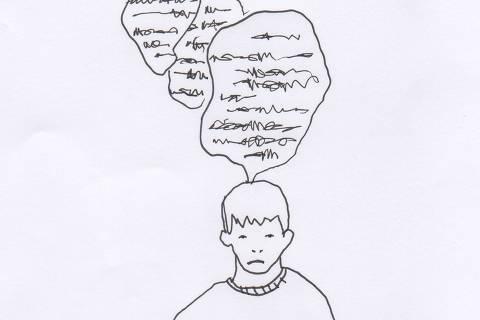 Ilustração do caderno da 63ª Turma de Trainees da Folha sobre transtorno psiquiatrico em adolescentes Credito:  Estela May  Galeria 5
