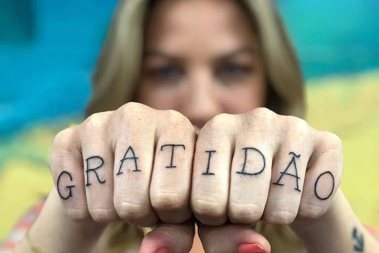 Luana Piovani e a tatuagem contra o ex