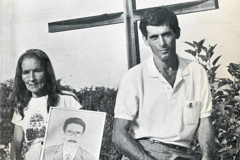 Reprodução da capa do livro 'Rio Maria: A terra da morte anunciada', de Moacyr de Oliveira Filho, de 1991; Carlos Cabral, na imagem, foi assassinado agora em meio à disputa de terra