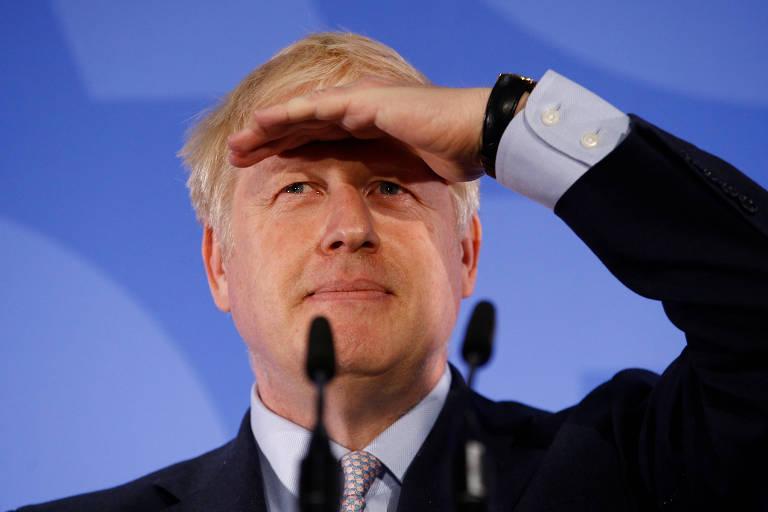 Boris Johnson, candidato à liderança dos conservadores no Reino Unido, durante lançamento de campanha em Londres