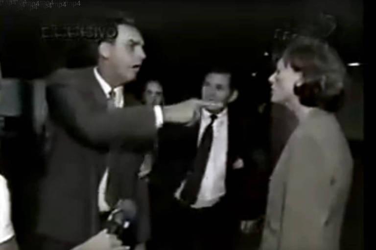 Vídeo em que Jair Bolsonaro xinga a colega Maria do Rosário, em polêmica na Câmara em 2003. Bolsonaro disse que não estupraria a colega porque ela não merecia. O caso rendeu a abertura de um processo contra o deputado