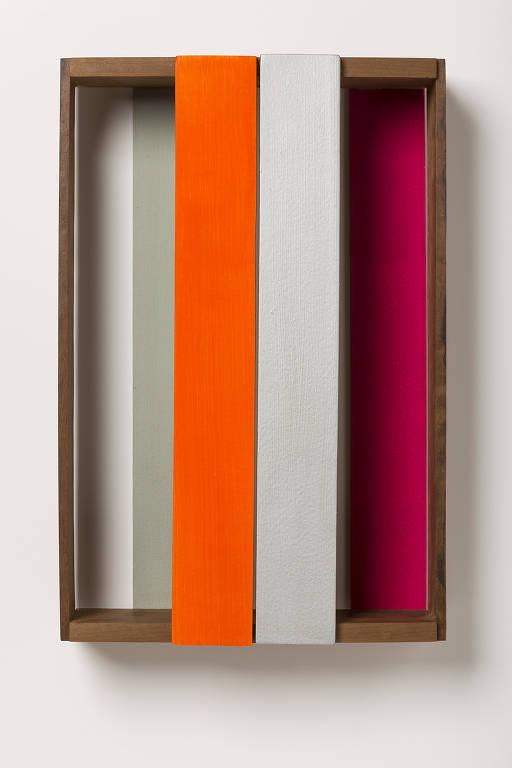'Caixa 225B', obra de Sérgio Sister de 2013 exibida em 'A Linha como Direção', na Pinacoteca