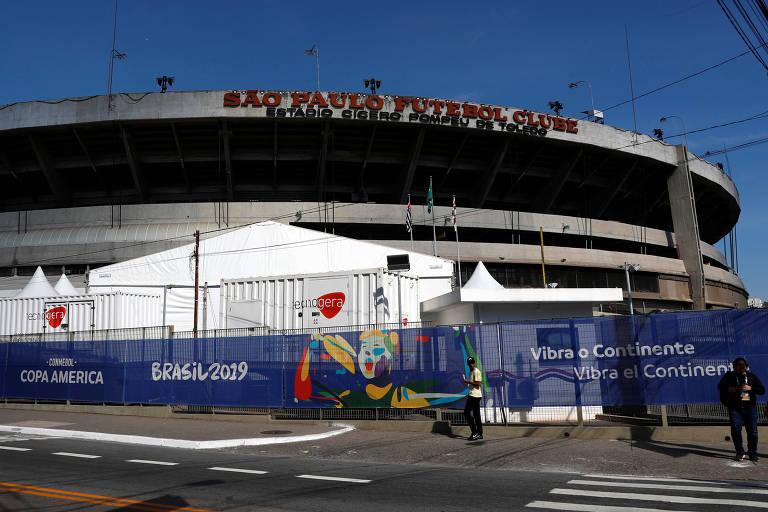 Estádio do Morumbi, que sediará a abertura da Copa América nesta sexta (13)