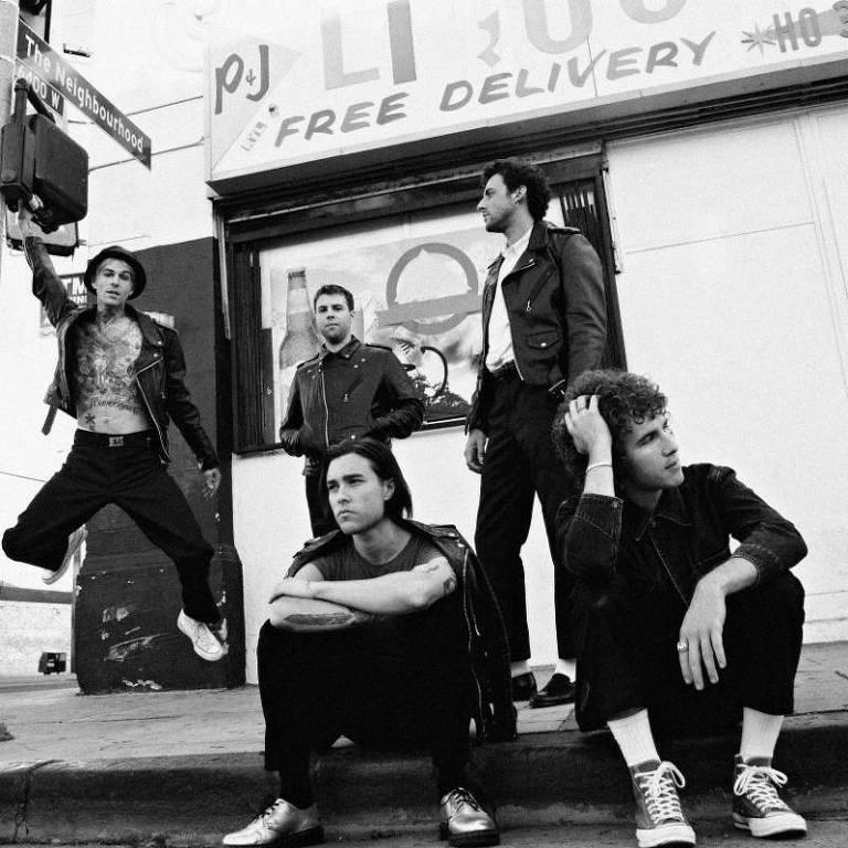 Integrantes da banda americana de indie The Neighbourhood