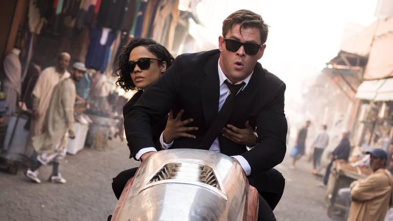 MIB: Homens de Preto Internacional. Um filme de F. Gary Gray com Chris Hemsworth, Tessa Thompson, Kumail Nanjiani, Rebecca Ferguson