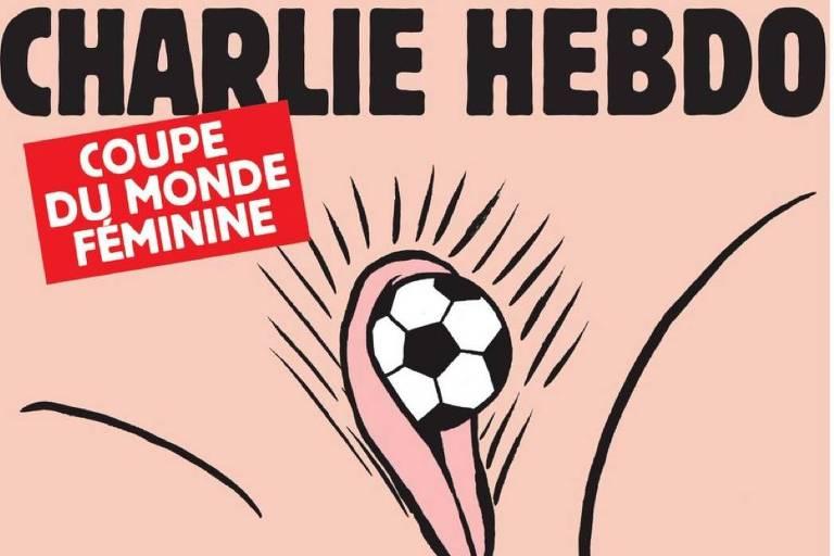 A capa do jornal satírico francês Charlie Hebdo desta semana
