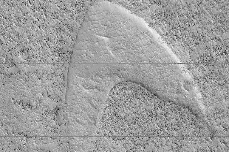 Nasa encontra símbolo de 'Star Trek' durante expedição em Marte