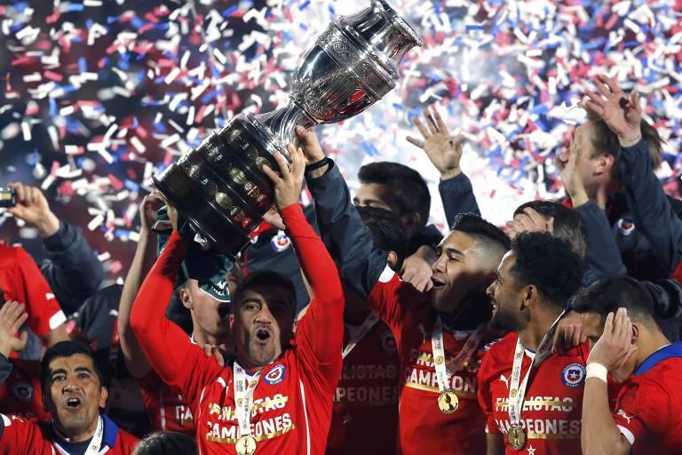 Chile é o atual bicampeão da Copa América com os títulos de 2015 e 2016