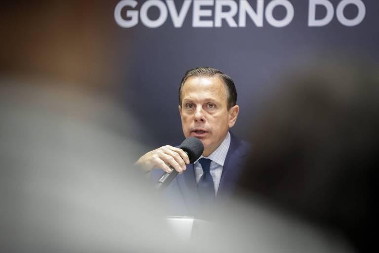 O governador de São Paulo, João Doria (PSDB), que disse que vai vetar projeto aprovado pela Alesp que autoriza venda de bebida nos estádios paulistas