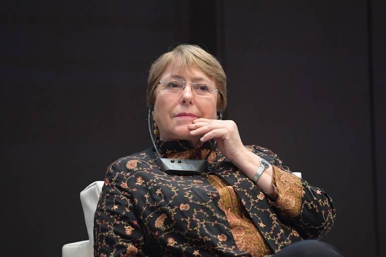 A alta comissária da ONU para os Direitos Humanos, Michelle Bachelet, em evento em Túnis