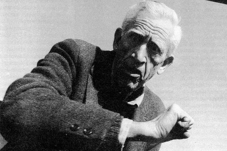 O escritor J. D. Salinger, flagrado ao sair do supermercado, em 1988
