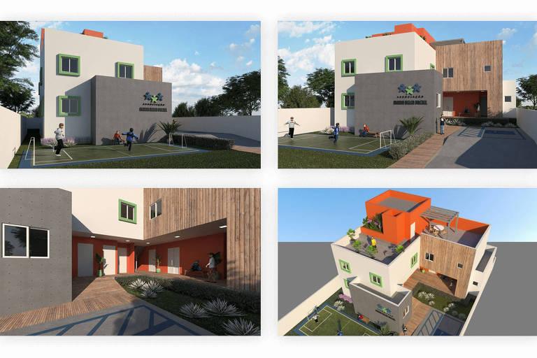 Imagens do projeto para a nova sede da Associação Maria Helen Drexel
