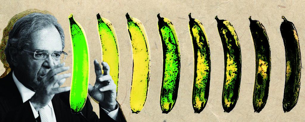 colagem de guedes e bananas