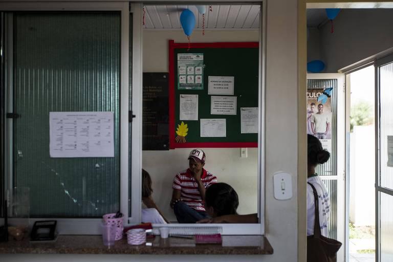 Posto de Saúde em Nova Soure, no semiárido baiano, que sofre com a falta de médicos