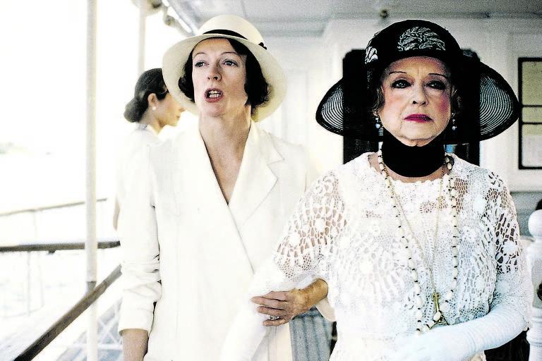 Maggie Smith e Bette Davis no filme de 1978 baseado no livro 'Morte no Nilo', de Agatha Christie