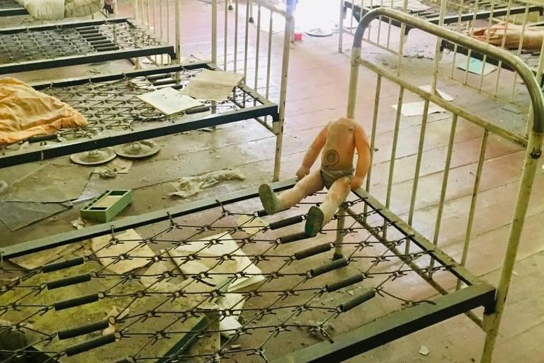 Creche dos filhos de funcionários da usina nuclear de Tchérnobil