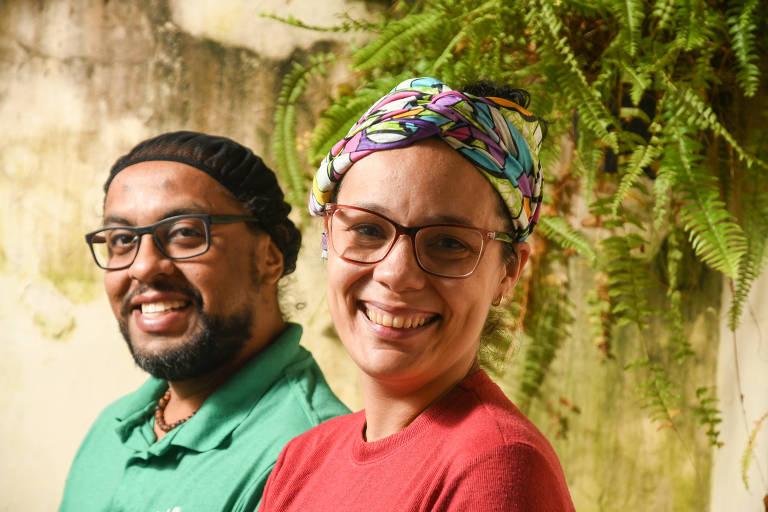 Carlos Escalona e Marifer Vargas, do Nossa Janela, empreendimento de comida venezuelana para delivery e eventos