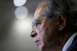 Brazil's Economy Minister Paulo Guedes attends a seminar about pension reform bill in Brasilia