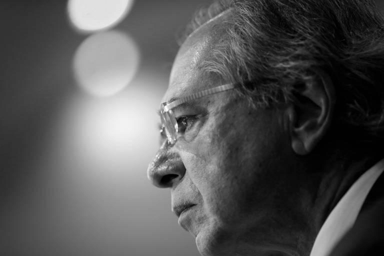 O ministro da Economia, Paulo Guedes, durante seminário em Brasília, em maio deste ano
