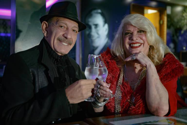 Stenio Mello e Clarice Berto, fãs do cantor Nelson Gonçalves